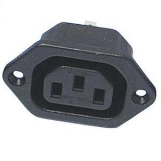 Conector de alimentare pentru lipit 230V/mama IEC C13