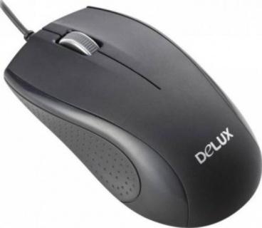Mouse optic USB Negru, Delux DLM-136BU