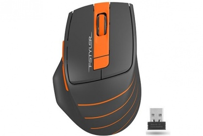 Mouse wireless A4Tech Fstyler Negru/Orange, FG30 Orange