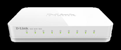 Switch 8 porturi Gigabit, D-LINK GO-SW-8G
