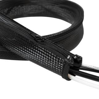 Plasa pentru fixarea cablurilor cu fermoar 30x20x1000mm Negru, Logilink KAB0046