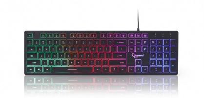 Tastatura multimedia USB Rainbow, Gembird KB-UML-01