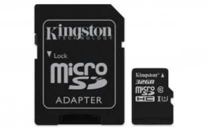 Card de memorie micro SDHC 32GB Clasa 10 + adaptor SD, Kingmax KM-PS04-32GB