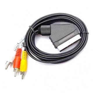 Cablu Scart la 3 x RCA T-T 2m, KTCBLHE11022A