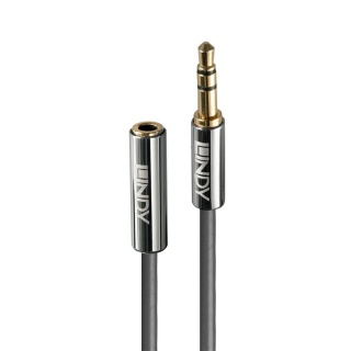 Cablu prelungitor audio jack stereo 3.5mm CROMO Line T-M 2m, Lindy L35328