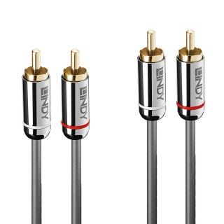 Cablu audio 2 x RCA la 2 x RCA T-T 0.5m Cromo Line, Lindy L35344