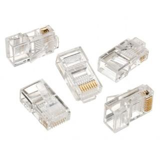 Set 50 mufe RJ45 cat 5e UTP pentru fir solid, Gembird LC-8P8C-001/50