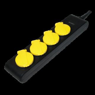 Cablu prelungitor cu protectie IP44 4 prize Schuko 1.4m, Logilink LPS212