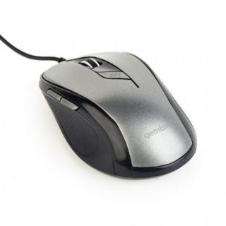 Mouse USB optic 6 butoane Negru/Silver, Gembird MUS-6B-01-BG
