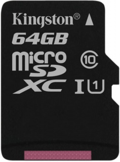 Card de memorie micro SDXC Canvas Select 64GB clasa 10, Kingston SDCS/64GBSP
