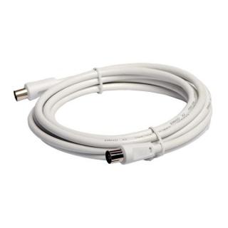 Cablu prelungitor coaxial (antena) RG59 T-M Alb 3m, Spacer SP-PT-COAX-3M