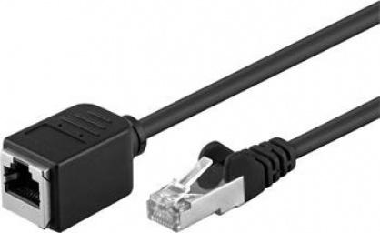 Cablu prelungitor FTP cat 5e RJ45 T-M 3m Negru, 91883