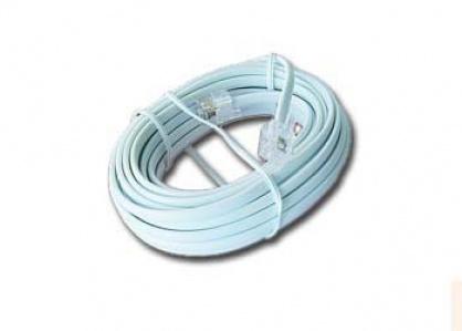 Cablu telefon RJ11 6P4C 3m Alb, Gembird TC6P4C-3M