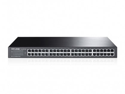 Switch cu 48 porturi 10/100Mbps montabil in Rack, TP-Link TL-SF1048