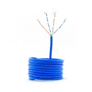 Rola cablu de retea UTP cat 5e fir solid 305m bleu, Gembird UPC-5004E-SO-BLUE