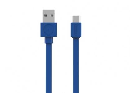 Cablu de date si incarcare USB 2.0-A la tip C 1.5m Albastru, Allocacoc