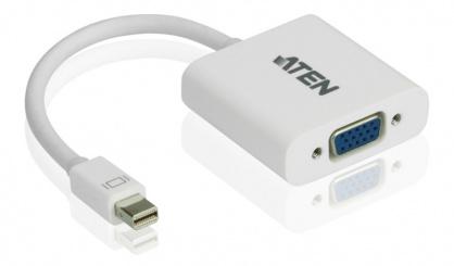 Adaptor Mini Displayport la VGA T-M Alb, ATEN VC920