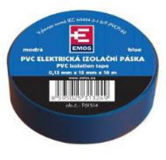Banda izolatoare  PVC 15mm/10m Albastru, ZVPEP04