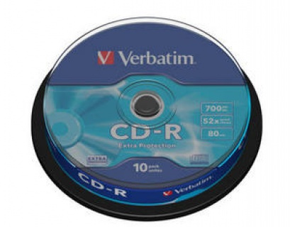 BLANK CD-R Verbatim DATALIFE 52X 700MB 10PK SPINDLE EXTRA PROTECTION