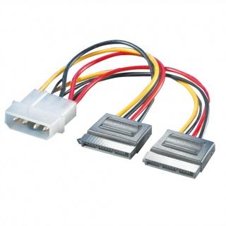 Cablu de alimentare Molex la 2 x SATA 12cm, Roline 11.03.1050