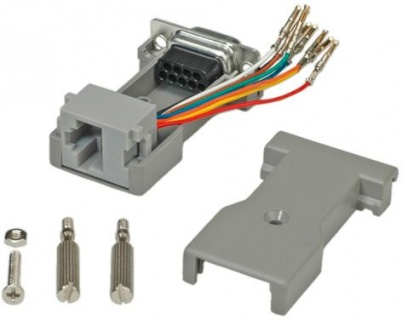 Adaptor serial socket DB9 la RJ45, Roline 12.03.7530