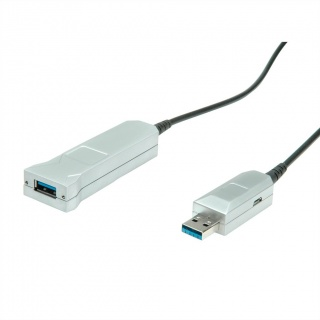 Cablu prelungitor USB 3.1 Gen 1 (AOC) Activ T-M  30m, Roline 12.04.1079