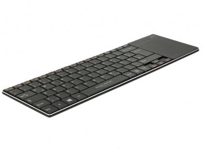 Tastatura wireless pentru Smart TV si PC Windows cu Touchpad 6 mm, Delock 12454