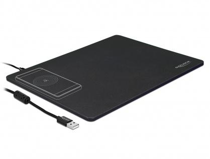 Mouse pad cu functia de incarcare wireless Negru, Delock 12595