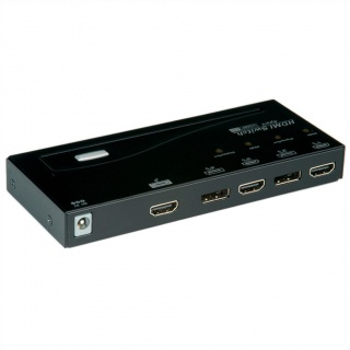 Switch HDMI/DisplayPort Switch cu 4 porturi, Roline 14.01.3574