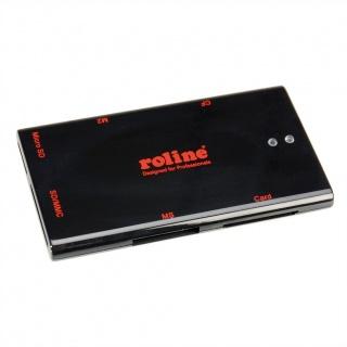 Mini cititor de carduri USB 2.0 50+ Negru, Roline 15.08.6247