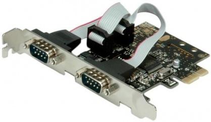 PCI Express la 2 porturi Serial RS-232 D-Sub 9 pini, Value 15.99.2118