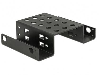 "Kit de montare 2 x 2.5"" HDD in bay 5.25"" Negru metal, Delock 18270"