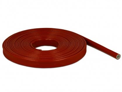 Manson anti-incendiu acoperit cu silicon 10m x 10mm Rosu, Delock 18899