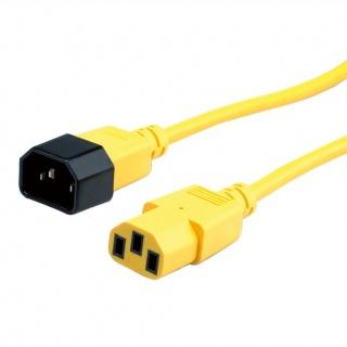 Cablu prelungitor PC C13 la C14 1.8m Galben, Roline 19.08.1521