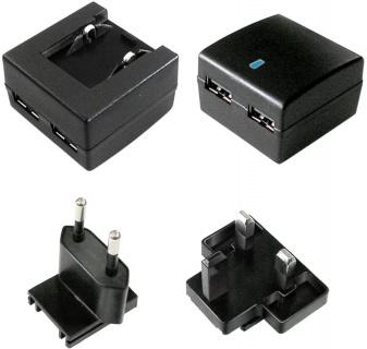 Incarcator priza cu 2 x USB + adaptor UK, 10W/2A, Value 19.99.1061
