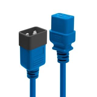 Cablu de alimentare IEC C19 la C20 2m Albastru, Lindy L30121