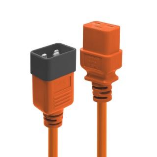 Cablu de alimentare IEC C19 la C20 1m Orange, Lindy L30126