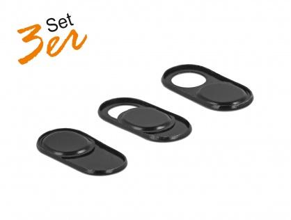 Set 3 bucati protectii camera pentru laptop/ smartphone/ tableta, Delock 20652