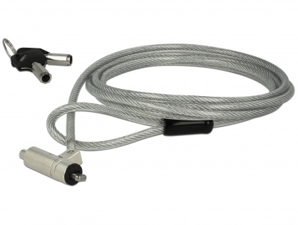 Cablu de securitate notebook cu cheie pentru Noble Wedge & HP Elite X2, Navilock 20654