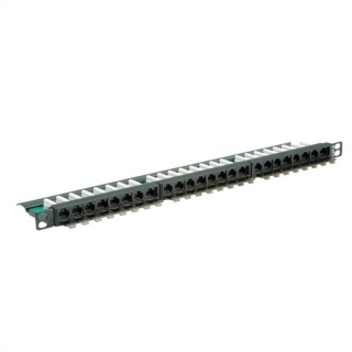 Patch Panel UTP Cat.6 24 porturi 0.5U, Roline 26.11.0372
