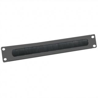 """Panou cabluri cu perii ghidaj 19"""" 2U RAL9005 Negru, Value 26.99.0316"""