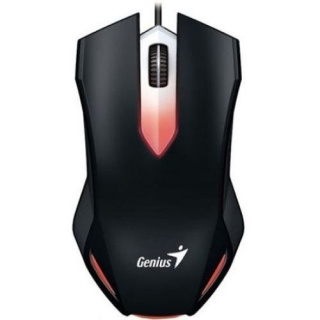 Mouse optic gaming X-G200, iluminare red LED, USB Negru, Genius