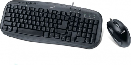 Kit tastatura + mouse USB KM-210 Negru, Genius