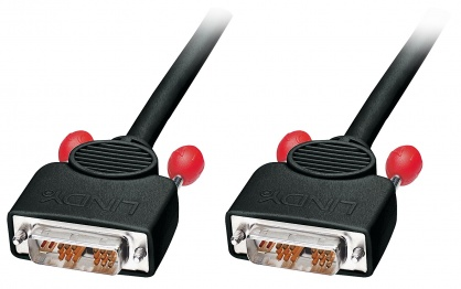 Cablu DVI-I Single Link 5m T-T Negru, Lindy L41273