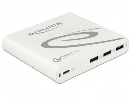 Incarcator priza la 1 x USB-C PD 85 W + 3 x USB-A Qualcomm Quick Charge 3.0 Alb, Delock 41432