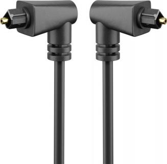 Cablu audio optic Toslink unghi 90 grade 1m, Goobay 41592