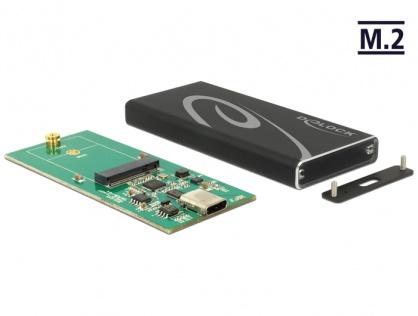 Rack extern M.2 SSD key B 42 mm la USB 3.1 tip C, Delock 42572