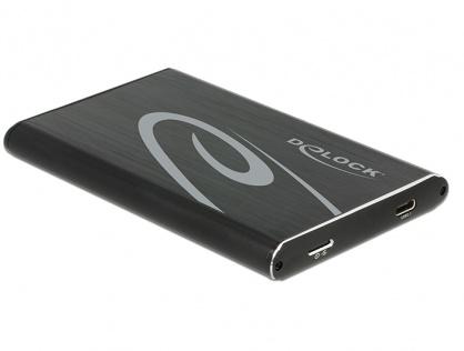 """Rack extern 2.5"""" pentru HDD/SSD 9.5mm SATA la USB 3.1 tip C, Delock 42586"""