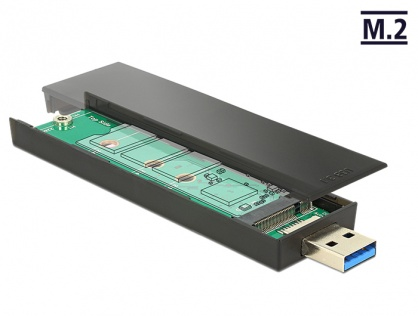 Rack extern pentru SSD M.2 Key B 80 mm la USB 3.1, Delock 42593