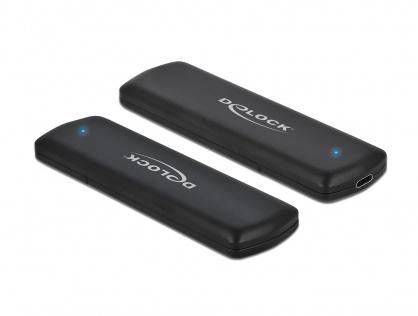 Rack extern USB-C la M.2 NVMe PCIe SSD Toolless, Delock 42615